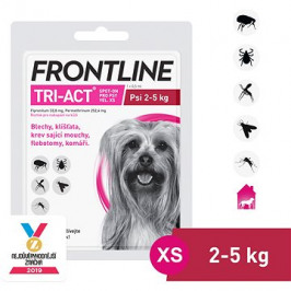 Frontline tri - act Spot - on pro psy XS (2 - 5 kg)
