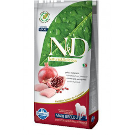 N&D dog GF ADULT MAXI CHICKEN/POMEGRANATE - 12kg